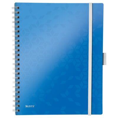 Spirálfüzet LEITZ Wow Active A/4 80 lapos vonalas kék