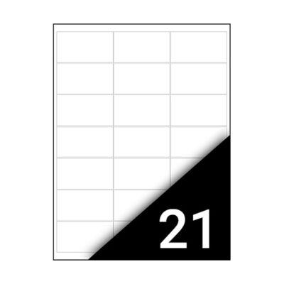 Etikett FORTUNA 63,5x38,1mm univerzális 2100 címke/doboz 100 ív/doboz