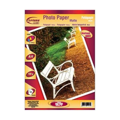 Fotópapír FORTUNA A/4 inkjet matt 180 gr 50 ív/csomag