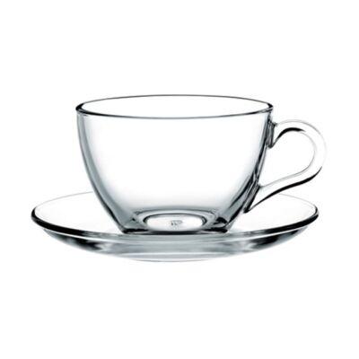 Pohár készlet kávés/teás  PASABAHCE Basic üveg 215 ml 6 db/dob