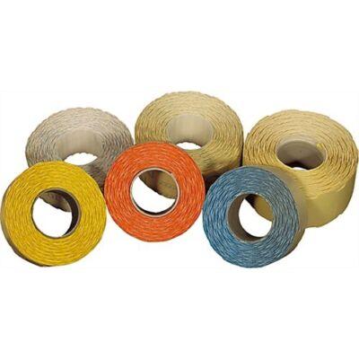 Árazószalag FORTUNA 22x12mm perforált neon narancs 10 tekercs/csomag