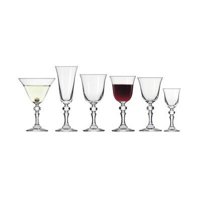 Pohár készlet boros KROSNO Krista üveg 220 ml 6 db/dob