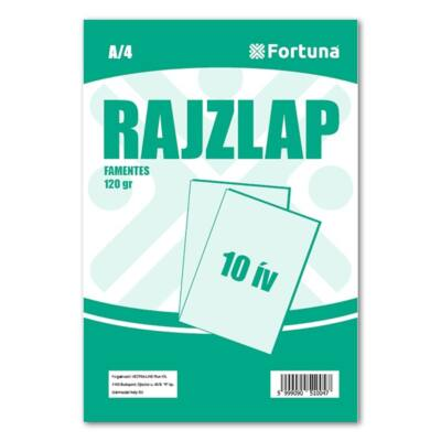 Rajzlap FORTUNA A/4 120 gr famentes 10 ív/csomag