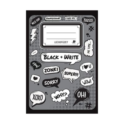Leckefüzet ICO Süni A/5 Black and Write