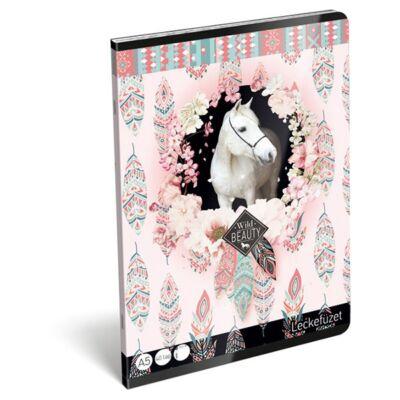 Leckefüzet LIZZY CARD A/5 32 lapos rose fehér lovas