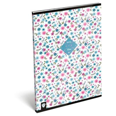 Füzet LIZZY CARD A/4 32 lapos vonalas 81-32 Flower white