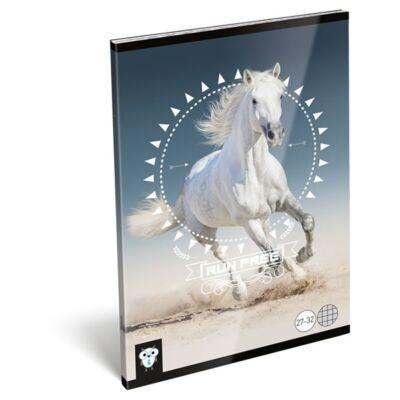 Füzet LIZZY CARD A/5 32 lapos kockás 27-32 Horse