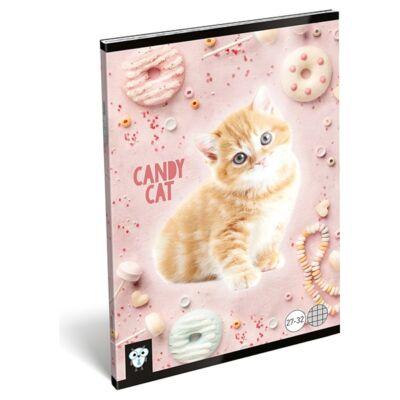 Füzet LIZZY CARD A/5 32 lapos kockás 27-32 Candy Cat