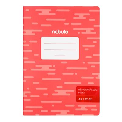 Füzet NEBULO basic+ A/5 32 lapos kockás 27-32