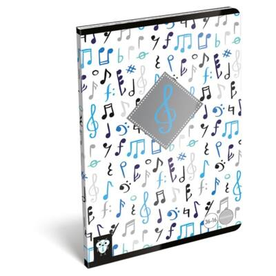 Hangjegyfüzet LIZZY CARD A/5 Violin 16 lapos