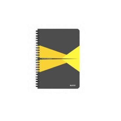 Spirálfüzet LEITZ Office A/4 PP borítóval 90 lapos vonalas sárga