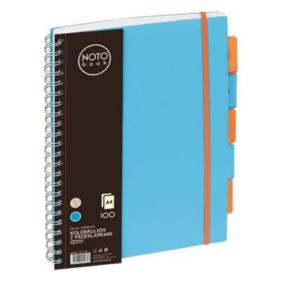 Spirálfüzet regiszteres GRAND A/4 vonalas 100 lapos kék