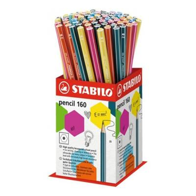Grafitceruza display STABILO Pencil 160 2B hatszögletű 72 db-os