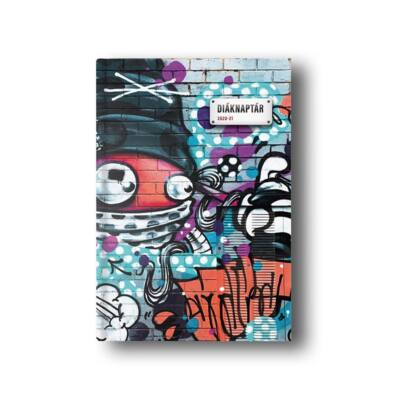Diák zsebkönyv TOPTIMER papírborító B/6 120x170mm Graffiti 2020-2021