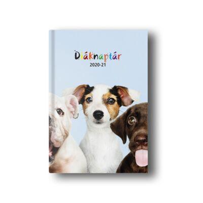 Diák zsebkönyv TOPTIMER papírborító B/6 120x170mm Kutyák 2020-2021