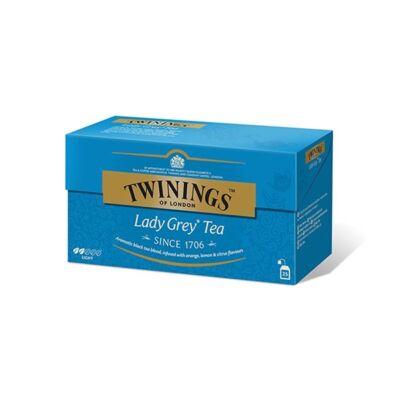 Fekete tea TWININGS Lady Grey 25x2gr