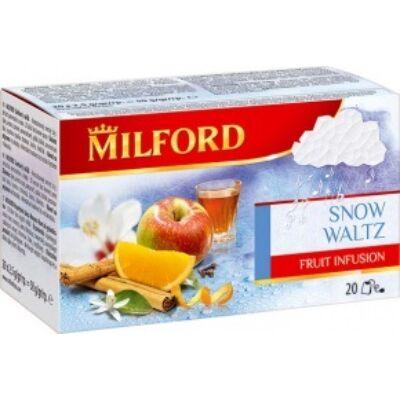 Gyümölcstea MILFORD Hópelyhek tánca, narancs-rum 20x2,5g