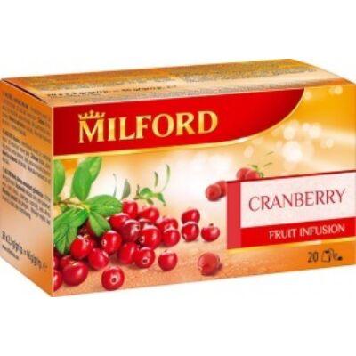 Gyümölcstea MILFORD vörösáfonya 20x2,3g